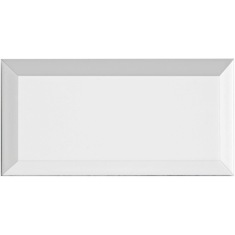 Metro Fliesen Obi: Wandfliese Facette Metro Weiß Glänzend 10 Cm X 20 Cm