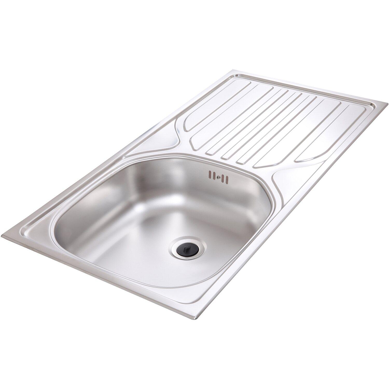 Respekta Küchenzeile 280 cm Grifflos Weiß Hochglanz kaufen bei OBI