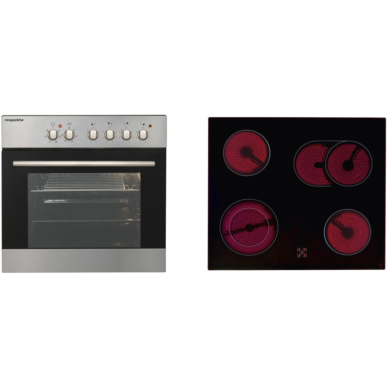 Küche Weiß Eiche Grau: Respekta Küchenzeile 210 Cm Schwarz Hochglanz-Eiche Grau