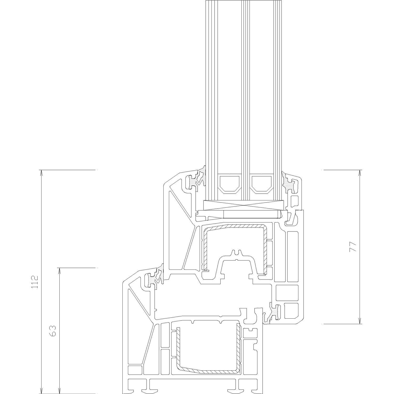 eco kunststoff fenster 3 fach glas uw 0 91 d k wei b 110xh 130 cm anschlag r kaufen bei obi. Black Bedroom Furniture Sets. Home Design Ideas