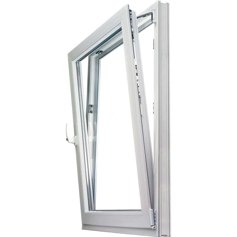 Wohnraum-Kunststoff-Fenster 2-fach Glas Uw 1,3 Weiß B: 50 x H: 70 cm Anschlag R | Baumarkt > Modernisieren und Baün > Fenster | Weiß