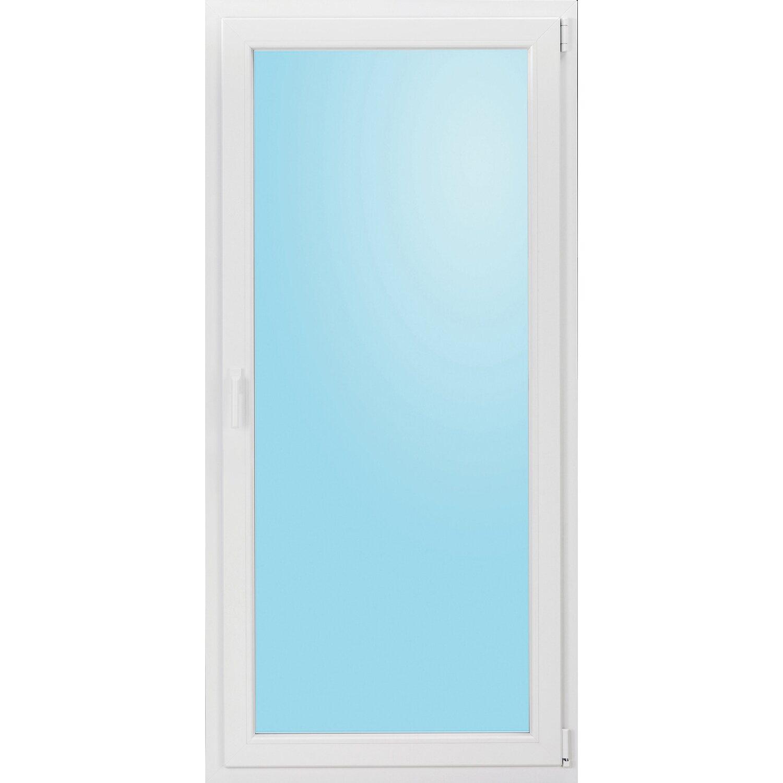 Wohnraum-Kunststoff-Balkontür 3-fach Glas Uw 0,91 Weiß B:100x H:210cm Anschlag R | Baumarkt > Modernisieren und Baün > Fenster