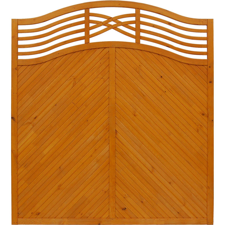 Sichtschutzzaun Element Malaga Pinienfarben 180 195 cm x 180 cm