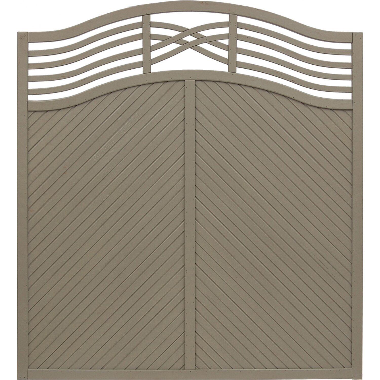 Sichtschutzzaun Element Malaga Grau 180 195 cm x 180 cm kaufen bei OBI