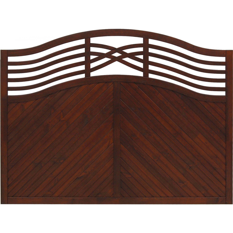 sichtschutzzaun element malaga braun 120 135 cm x 180 cm kaufen bei obi. Black Bedroom Furniture Sets. Home Design Ideas