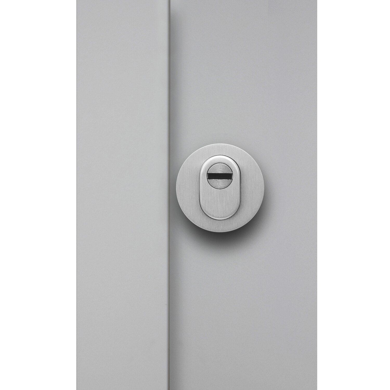 sicherheits haust r thermospace dublin rc2 110 x 210 cm grau anschlag links kaufen bei obi. Black Bedroom Furniture Sets. Home Design Ideas