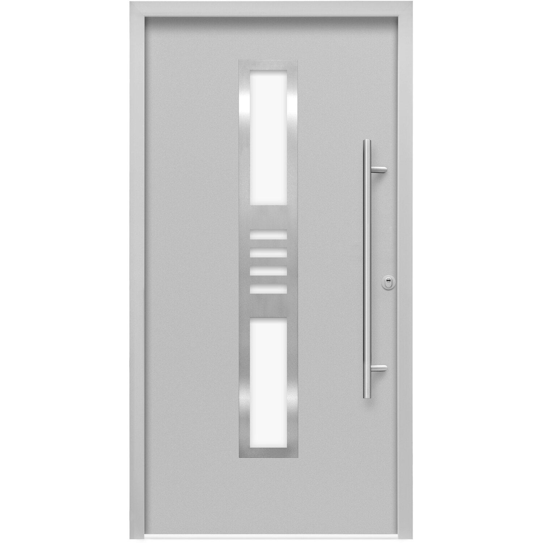 Splendoor Haustür ThermoSpace Köln RC2 Grau 210 x 100 cm AnschlagRechts | Baumarkt > Modernisieren und Baün > Türen | Splendoor Thermospace