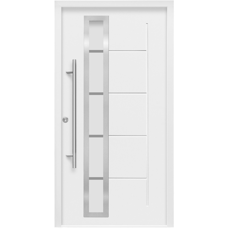 Haustür Weiß haustür thermospace 110 x 210 cm weiß anschlag links kaufen