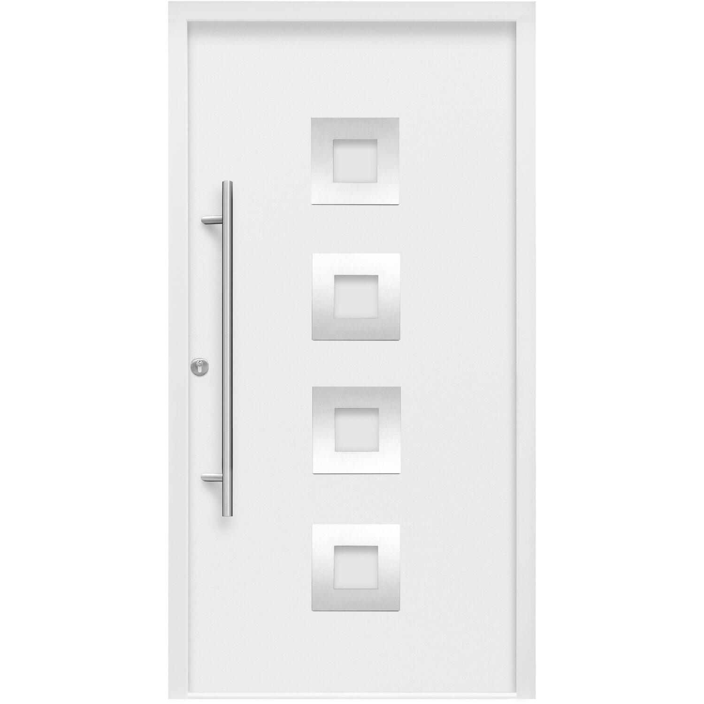 Haustür ThermoSpace Wien 110 x 210 cm Weiß Anschlag Links | Baumarkt > Modernisieren und Baün > Türen | Weiß | Stahl - Edelstahl - Pu - Aluminium | Splendoor Thermospace