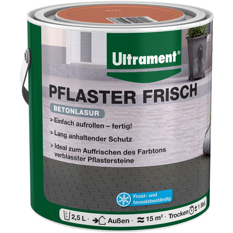 Ultrament Betonlasur Pflaster Frisch Rot 2,5 l