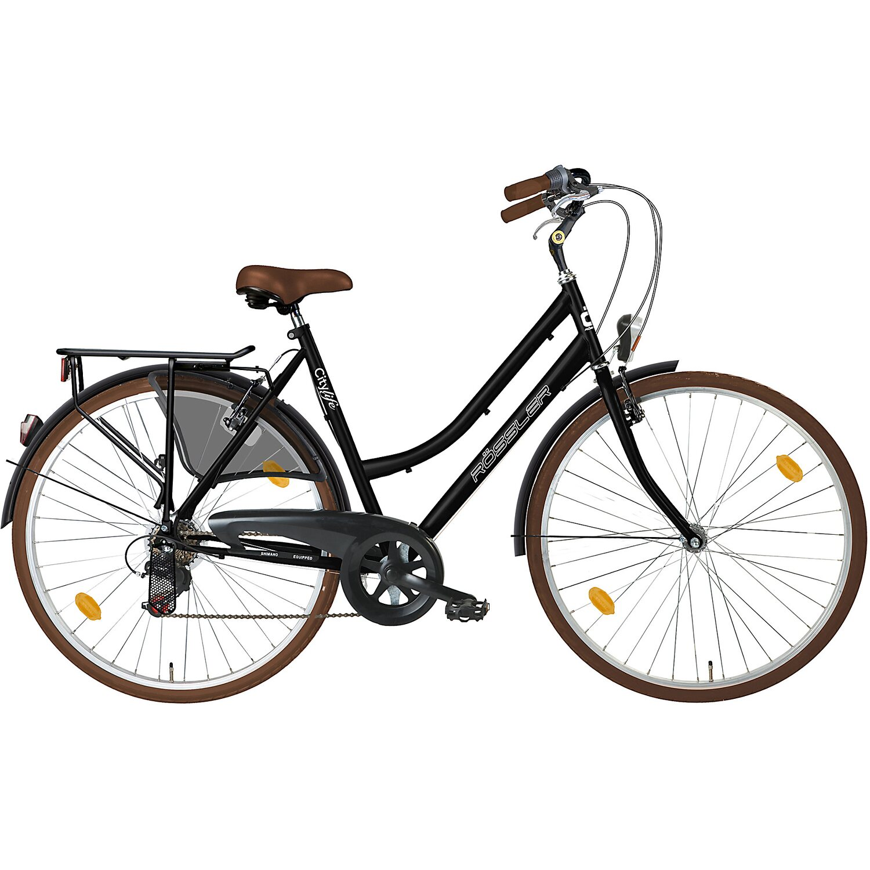 r ssler city fahrrad shimano 6 gang 28 schwarz braun kaufen bei obi. Black Bedroom Furniture Sets. Home Design Ideas