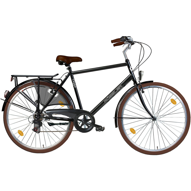 r ssler city fahrrad 6 gang shimano 28 schwarz glanz kaufen bei obi. Black Bedroom Furniture Sets. Home Design Ideas