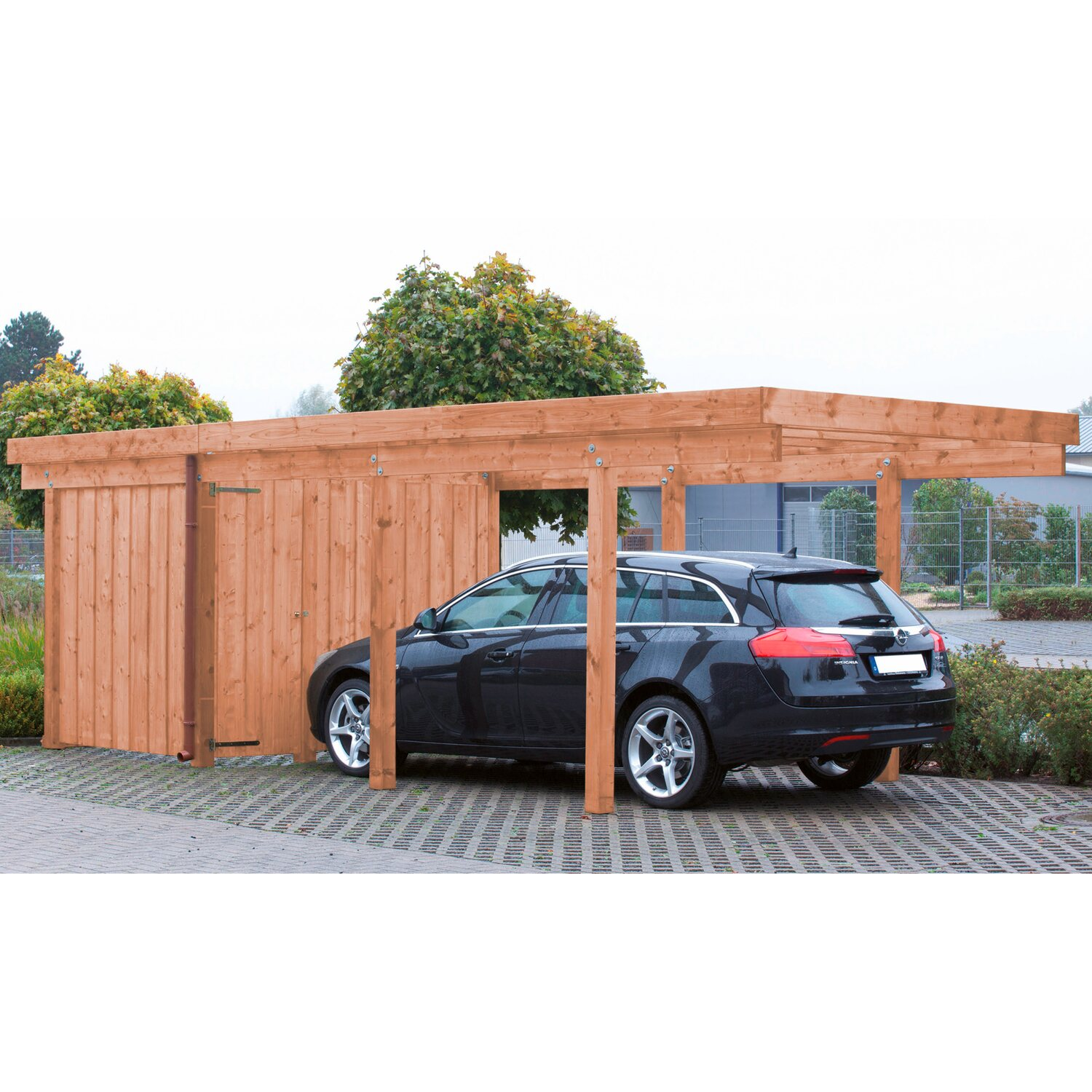einzel carport amrum 2 pvc dacheindeckung douglasie natur kaufen bei obi. Black Bedroom Furniture Sets. Home Design Ideas