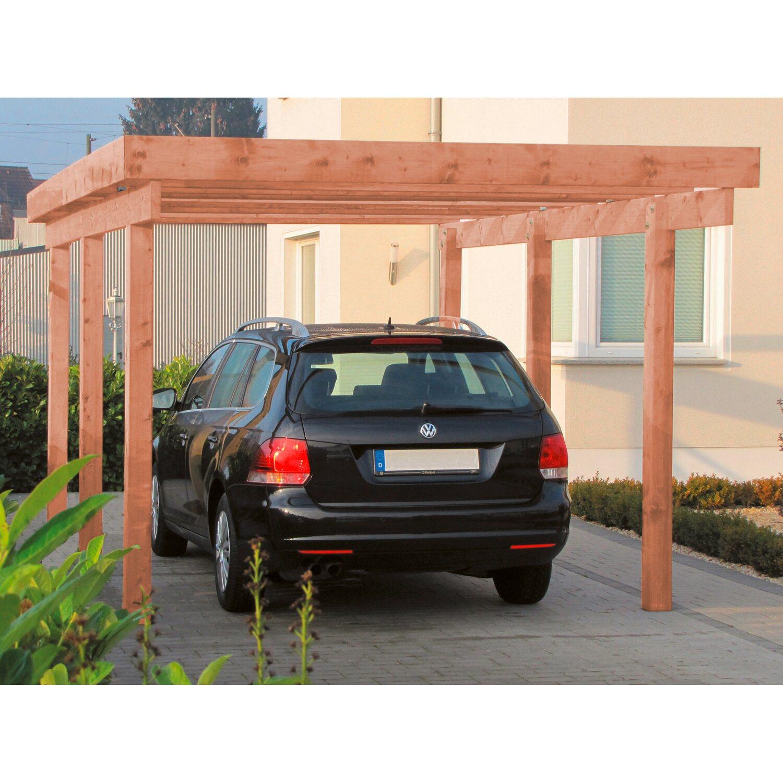 Carport Bilder: Einzel-Carport Amrum 1 PVC Dacheindeckung Douglasie Natur