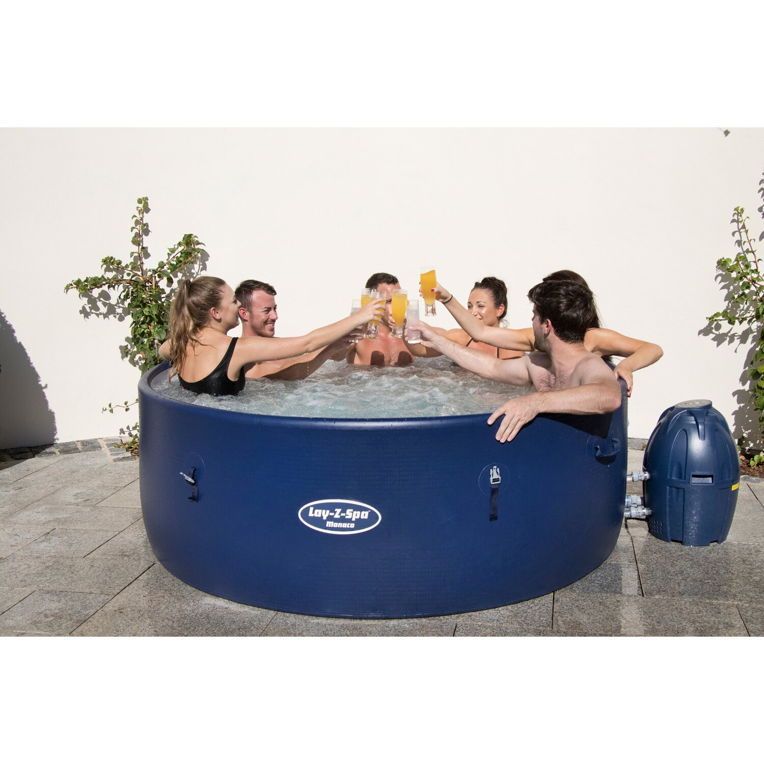 Bestway whirlpool lay z spa monaco airjet 201 cm x 69 cm for Bestway pool bei obi