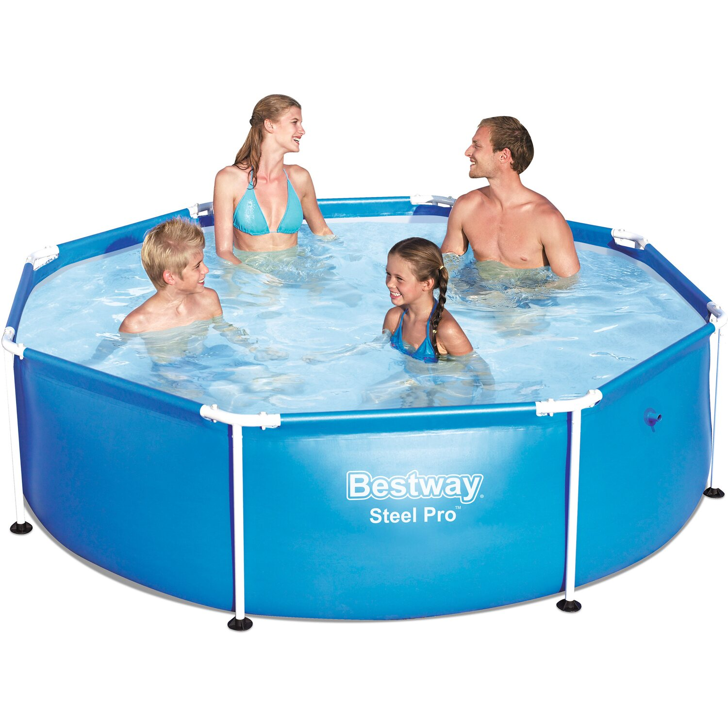 Bestway pool steel pro frame 244 cm x 61 cm kaufen bei obi for Bestway pool bei obi