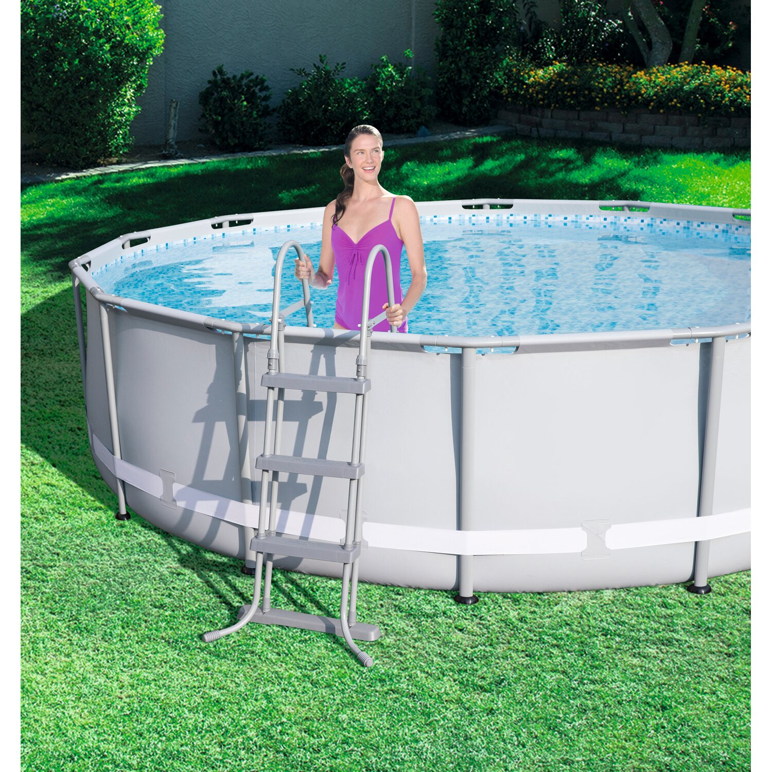 Bestway pool set power steel frame 427 cm x 107 cm mit for Bestway pool bei obi