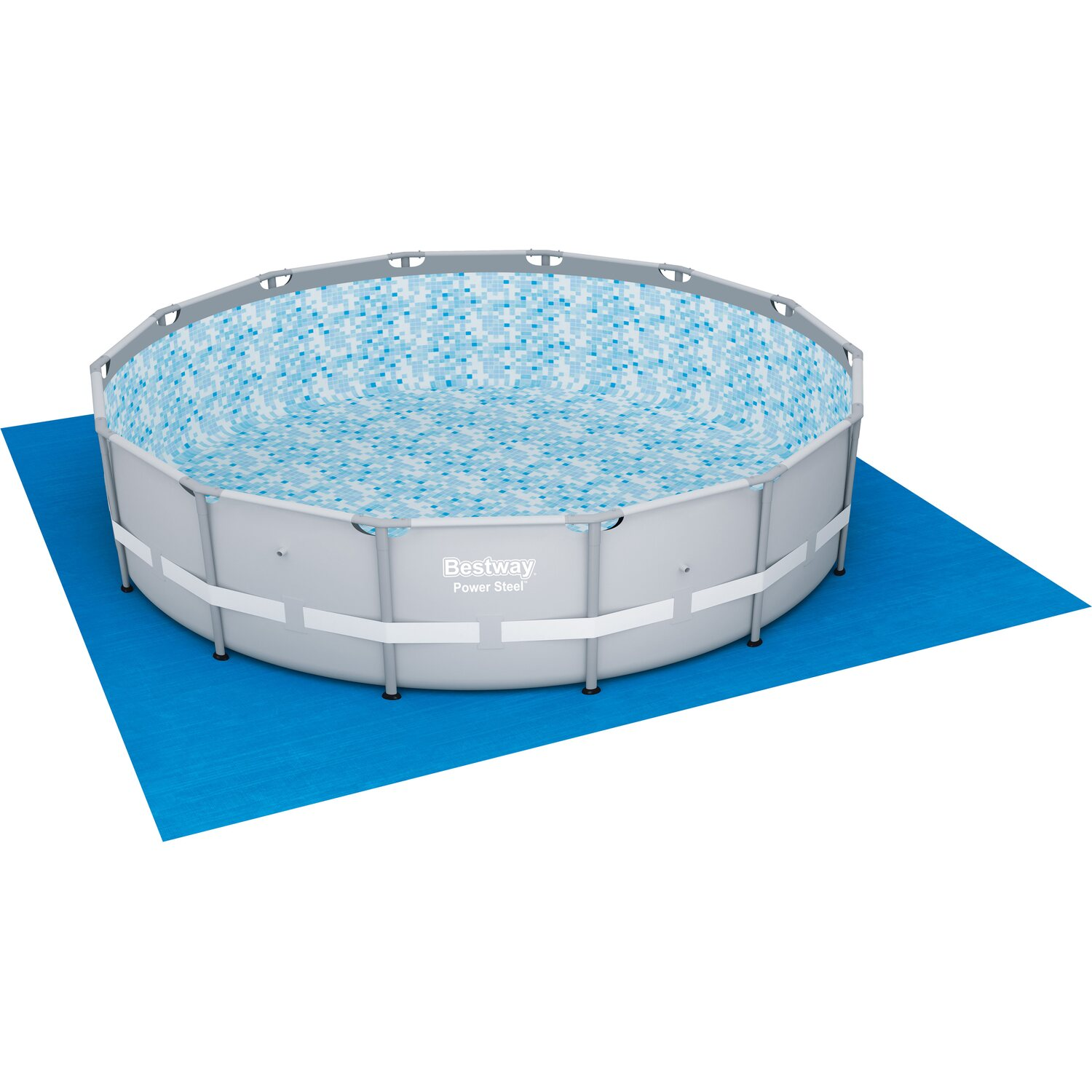 Bestway Pool-Set Power Steel Frame 427 cm x 107 cm mit Sandfilter ...