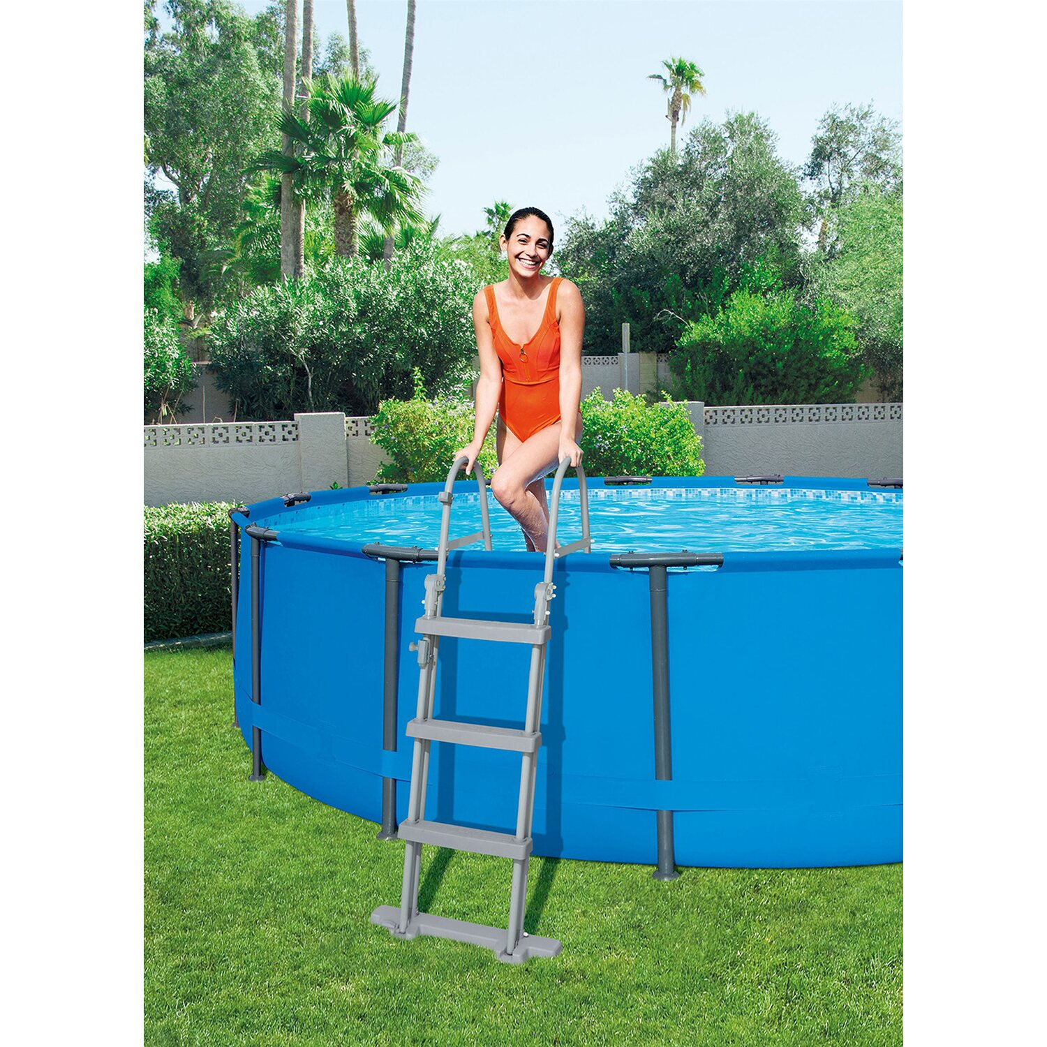 Bestway pool set steel pro frame 457 cm x 107 cm kaufen for Pool obi baumarkt