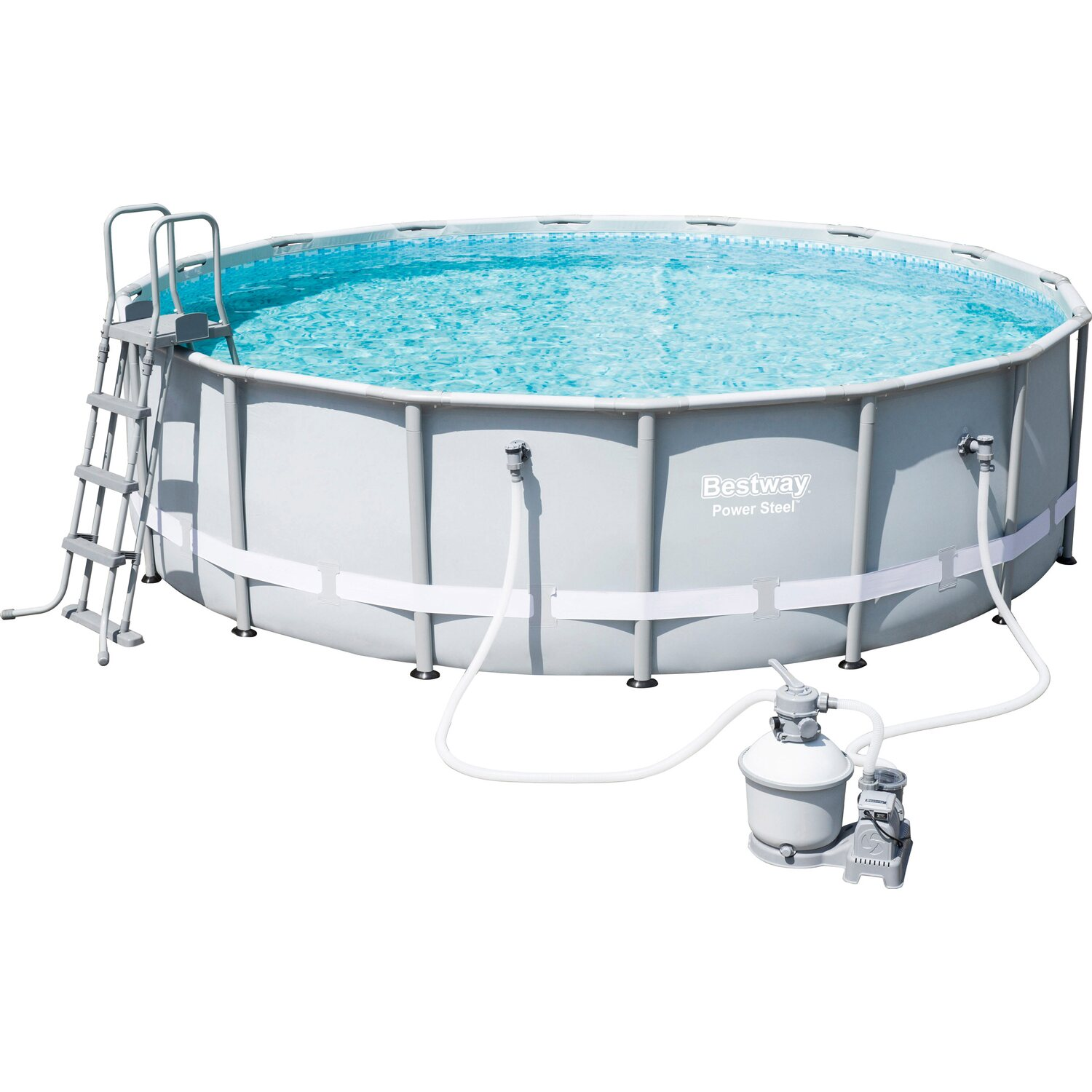 Bestway pool set power steel frame 488 cm x 122 cm kaufen for Bestway pool bei obi