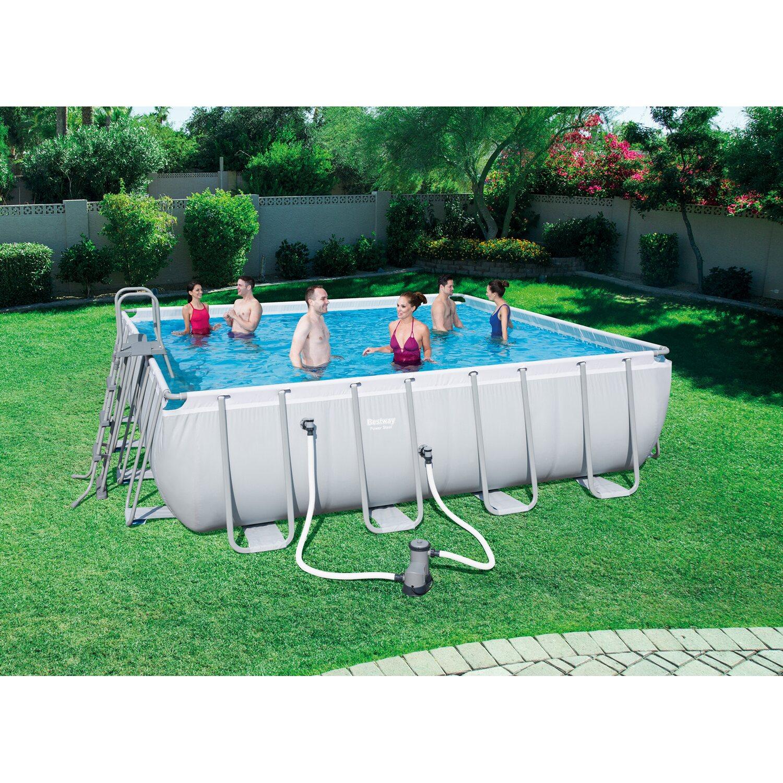 bestway pool set power stahlrahmen 488 cm x 488 cm x 122 cm kaufen bei obi. Black Bedroom Furniture Sets. Home Design Ideas