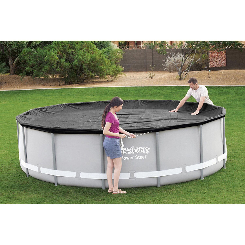 bestway abdeckplane f r frame pool 427 cm kaufen bei obi. Black Bedroom Furniture Sets. Home Design Ideas