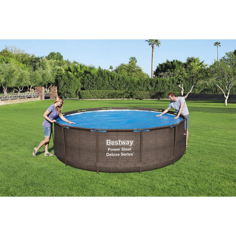 bestway solar abdeckplane f r fast set und steel pro frame pool 366 cm kaufen bei obi. Black Bedroom Furniture Sets. Home Design Ideas