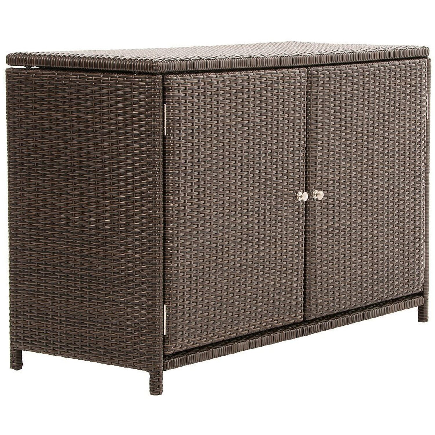 Polyrattan schrank affordable full size of schmalen for Sofa fur garten