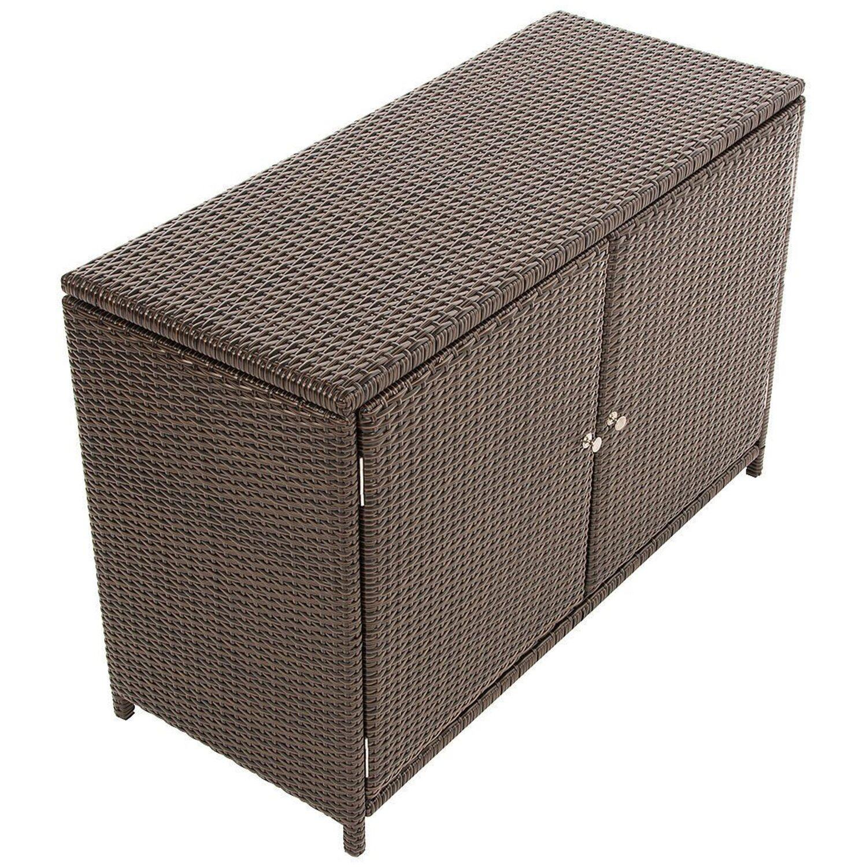 best of home gartenschrank kunstrattan braun kaufen bei obi. Black Bedroom Furniture Sets. Home Design Ideas