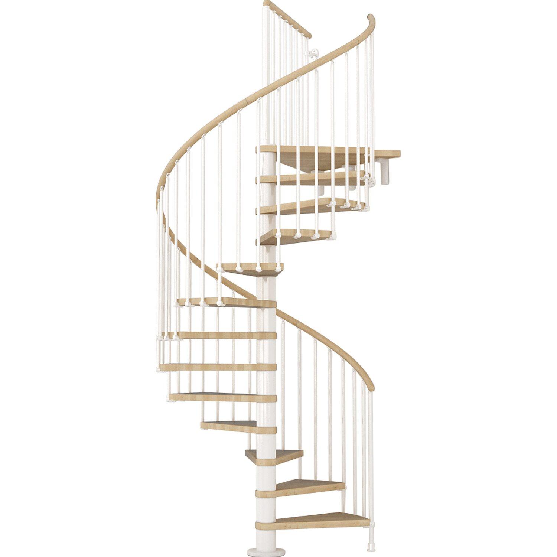 Spindeltreppe ring buche inkl gel nder 118 cm wei for Scale per interni leroy merlin