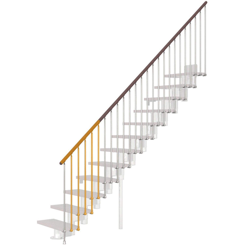 Treppengeländer Long Chrom-Buche dunkel   Baumarkt > Leitern und Treppen   Fontanot