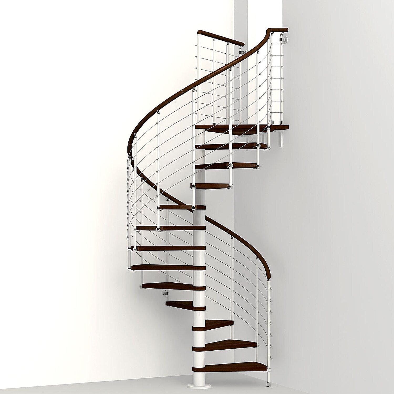 spindeltreppe ring tube buche inkl gel nder 118 cm wei buche dunkel kaufen bei obi. Black Bedroom Furniture Sets. Home Design Ideas