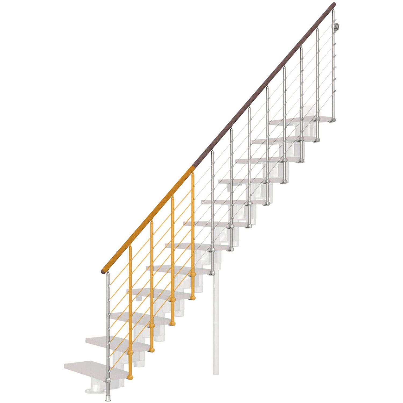 Treppengeländer Long Tube Chrom-Buche dunkel   Baumarkt > Leitern und Treppen > Treppen   Mehrfarbig   Fontanot
