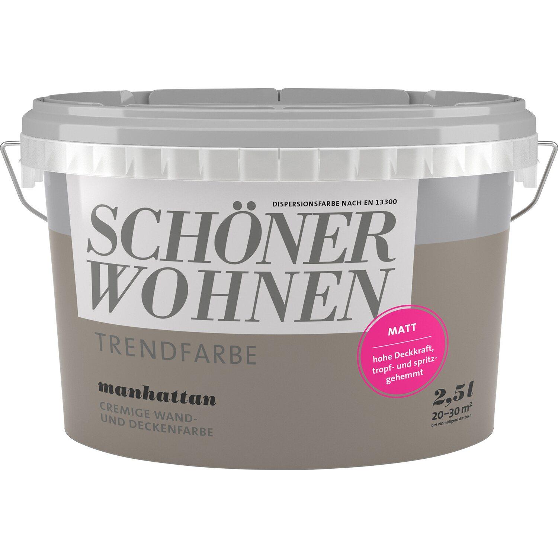 Farbpalette Wandfarben Braun Obi Gasflasche: Schöner Wohnen Trendfarbe Manhattan Matt 2,5 L Kaufen Bei OBI