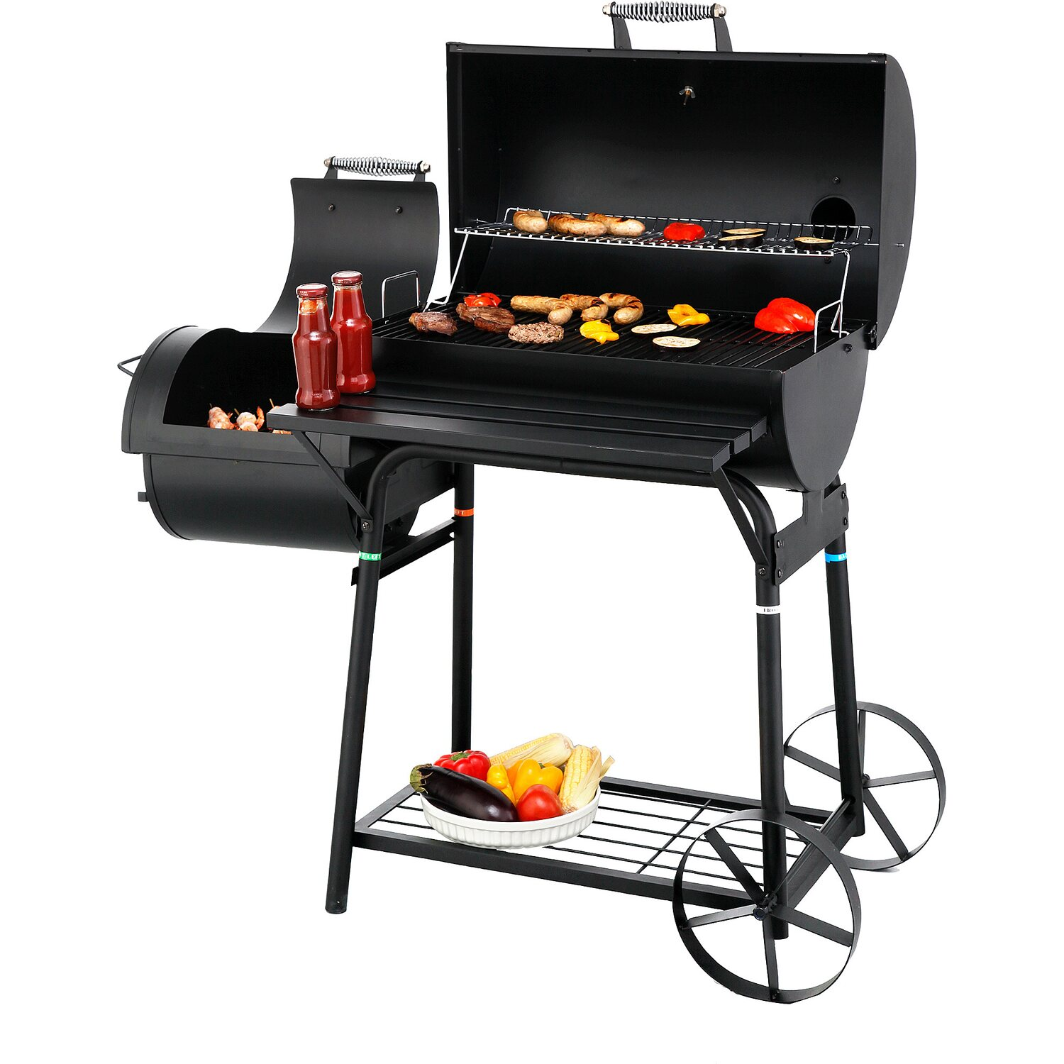 tepro holzkohle grill smoker biloxi mit seitlicher brennkammer kaufen bei obi. Black Bedroom Furniture Sets. Home Design Ideas