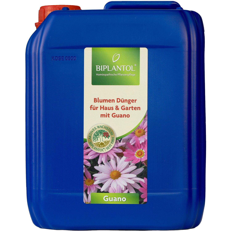 Biplantol Zierpflanzen- und Blumendünger Guano 5 l