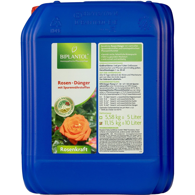 Biplantol Spezial-Flüssigdünger Rosenkraft 10 l