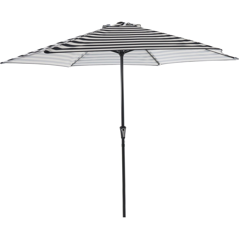 Obi Sonnenschirm Honolulu Grau Gestreift O 300 Cm Kaufen Bei Obi