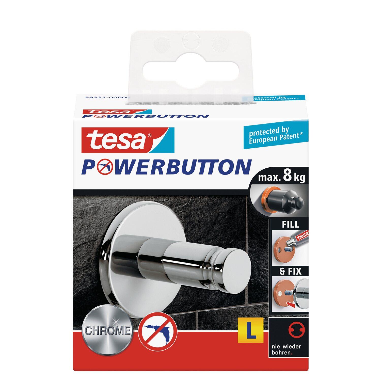 Tesa Premium-Haken Chrom selbstklebend kaufen bei OBI