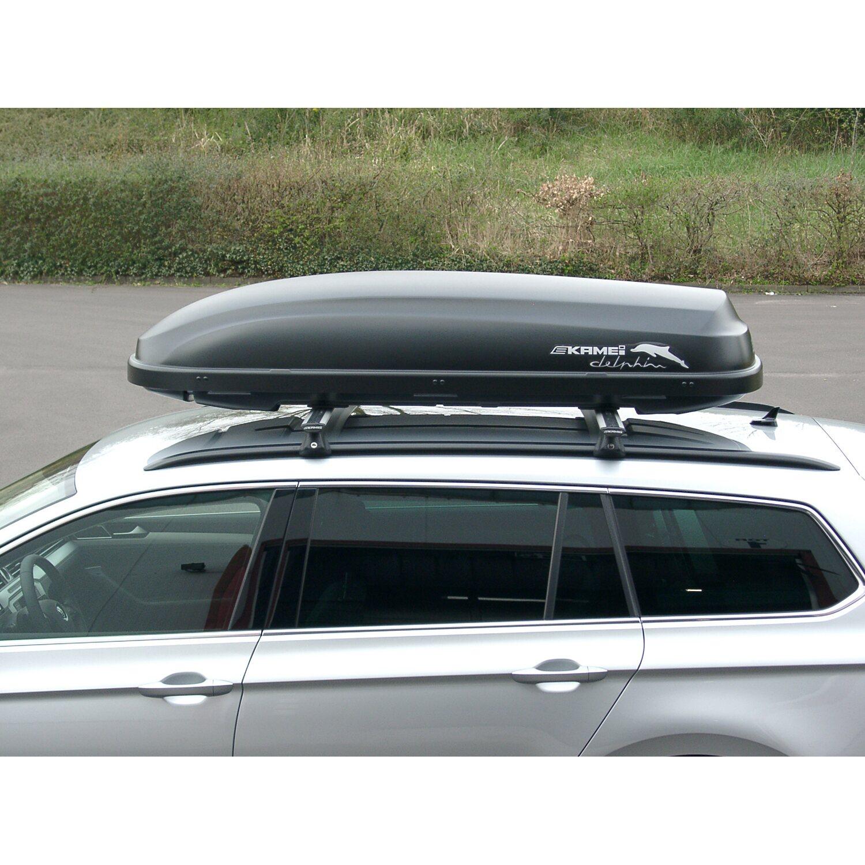 angebot obi kamei auto dachbox delphin 340 l schwarz matt. Black Bedroom Furniture Sets. Home Design Ideas
