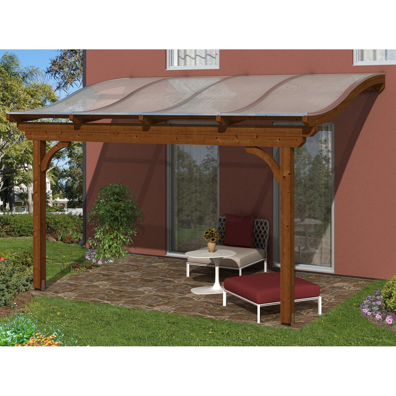 skanholz terrassenuberdachung, skan holz terrassenüberdachung verona 434 x 239 cm leimholz nussbaum, Design ideen
