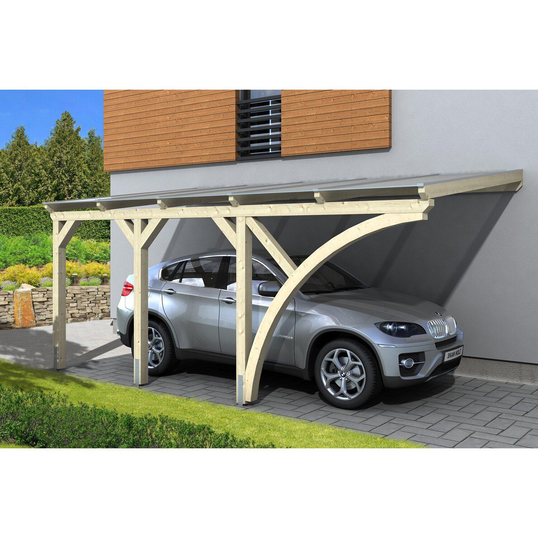 Skan Holz Carport Eifel 300 cm x 541 cm Natur