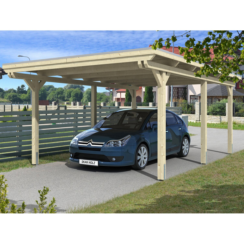 Skan Holz Carport Emsland 404 cm x 604 cm Natur   Baumarkt > Garagen und Carports   Skan Holz