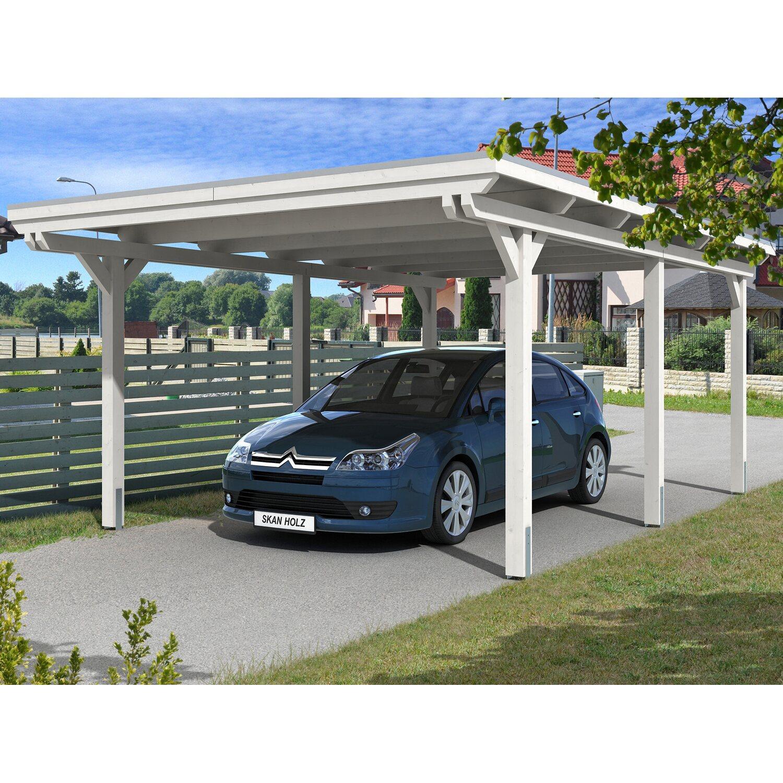Skan Holz Carport Emsland 404 cm x 604 cm Weiß | Baumarkt > Garagen und Carports > Carports | Weiß | Holz | Skan Holz