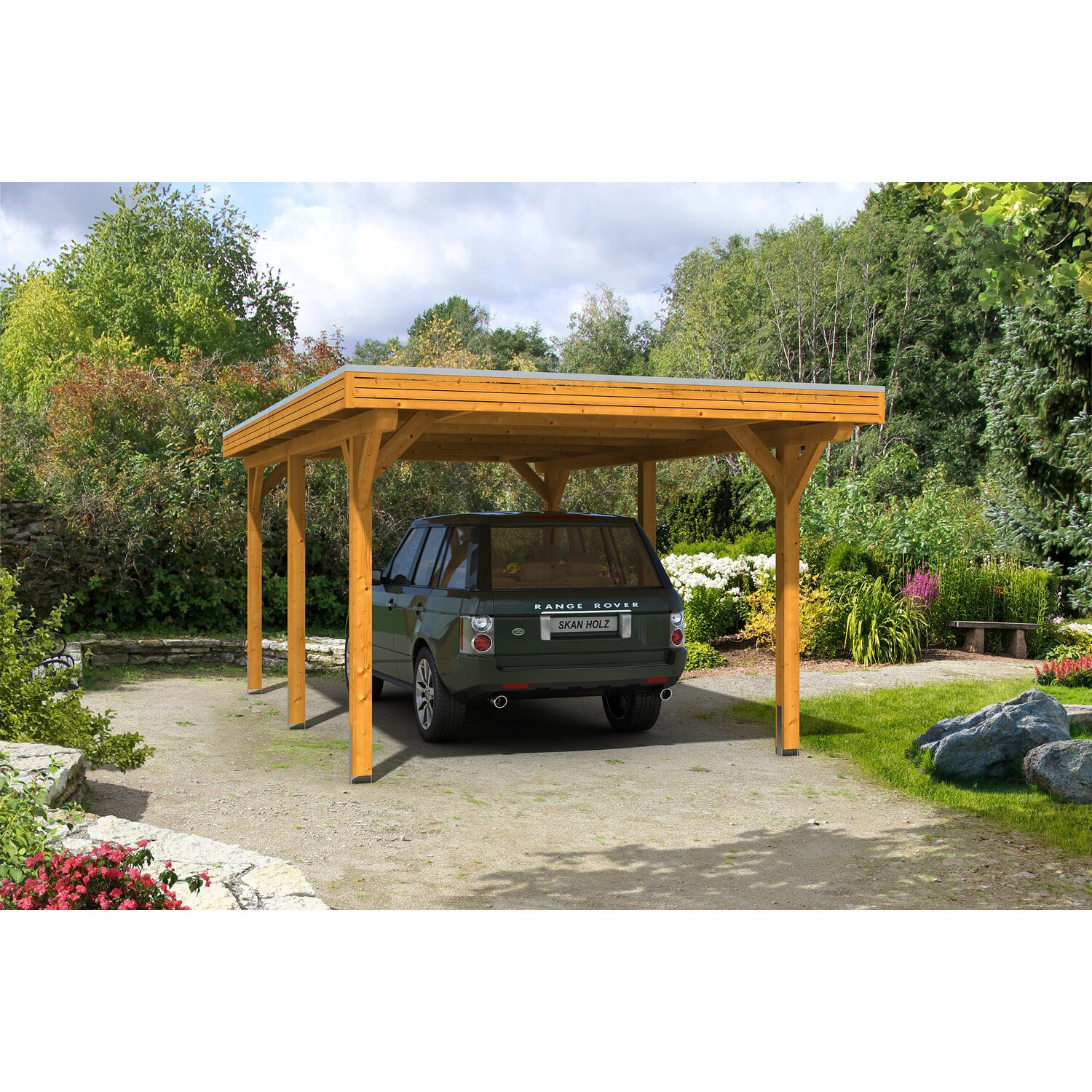 skan holz carport spessart 355 cm x 604 cm eiche hell kaufen bei obi. Black Bedroom Furniture Sets. Home Design Ideas
