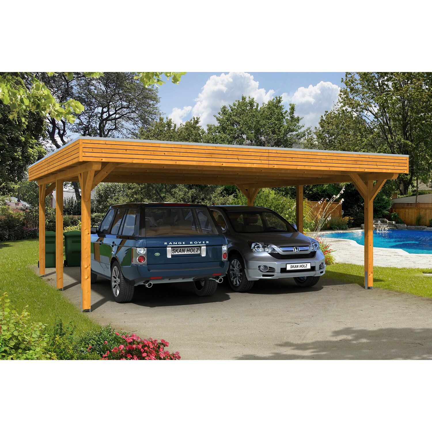 skan holz carport spessart 611 cm x 604 cm eiche hell kaufen bei obi. Black Bedroom Furniture Sets. Home Design Ideas