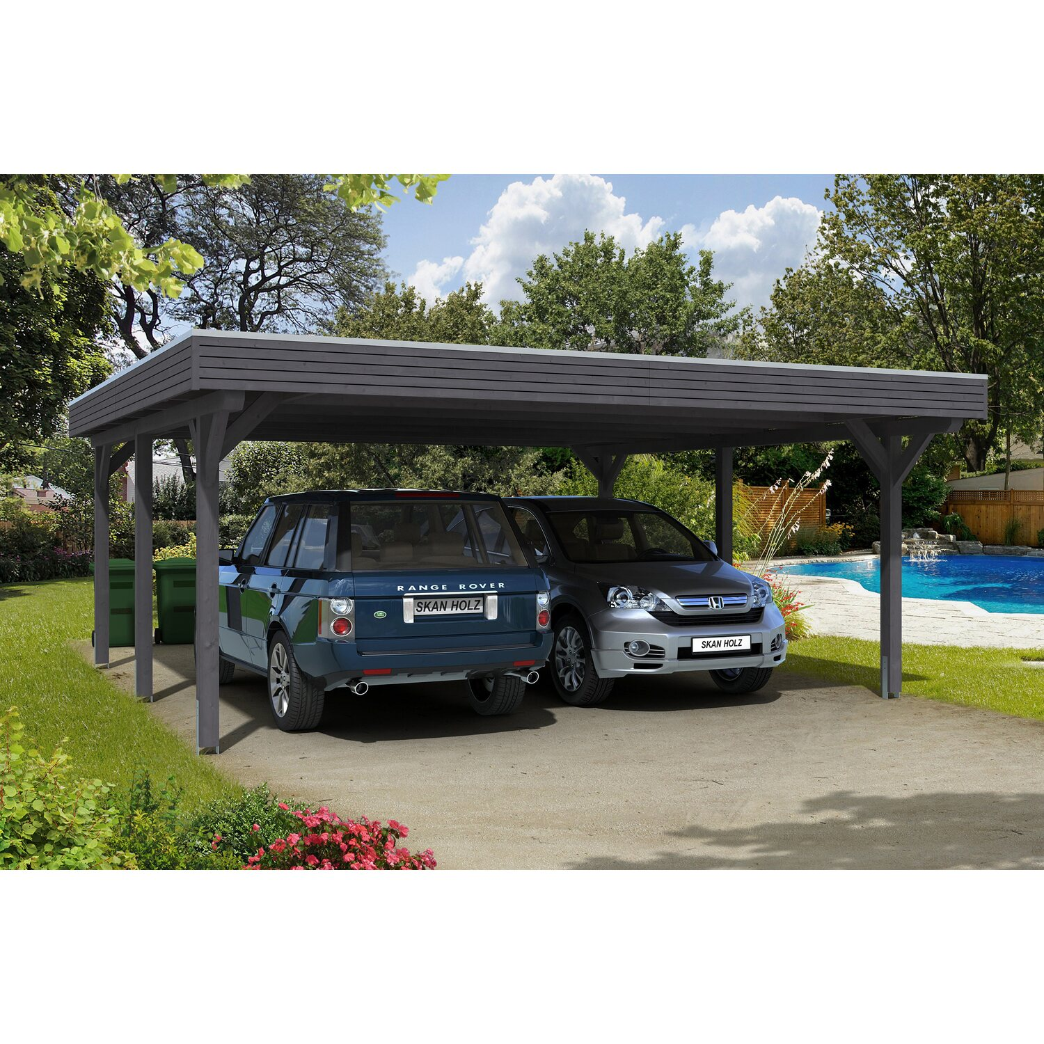 skan holz carport spessart 611 cm x 604 cm schiefergrau kaufen bei obi. Black Bedroom Furniture Sets. Home Design Ideas
