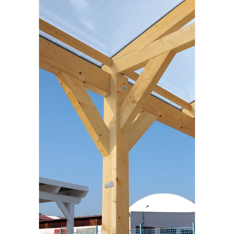 Skan Holz Carport Westerwald 570 Cm X 541 Cm Gerade Kopfbander Weiss