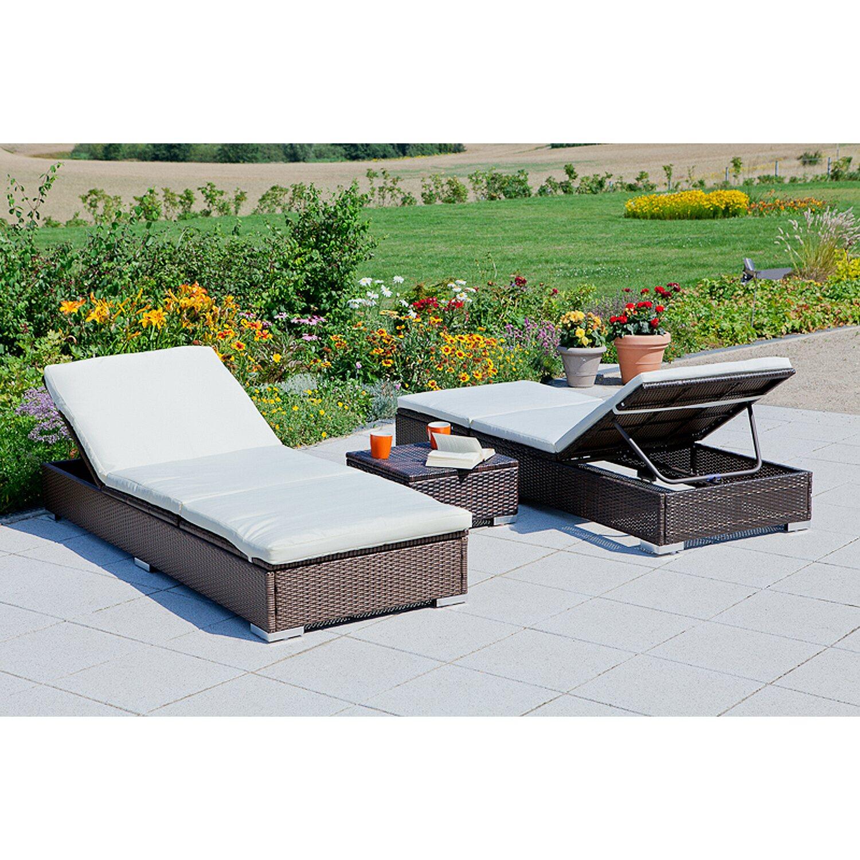 multi sonnenliegen set 3 tlg kaufen bei obi. Black Bedroom Furniture Sets. Home Design Ideas
