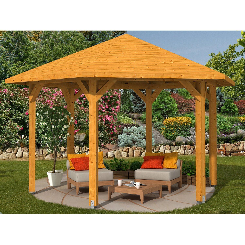 skan holz pavillon nancy 3 leimholz 480 cm x 416 cm eiche hell kaufen bei obi. Black Bedroom Furniture Sets. Home Design Ideas